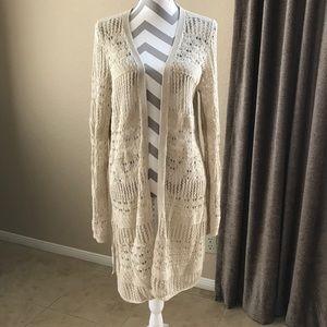 Tan Hobo Inspired Lucky Brand Crochet Sweater
